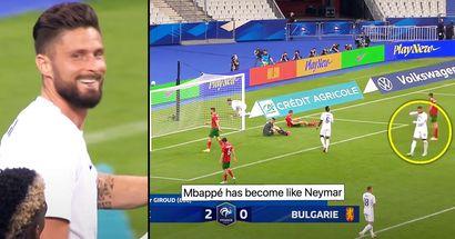 """""""Er ist wie Neymar geworden"""": Kylian Mbappe wird für seine Reaktion auf das Tor von Olivier Giroud kritisiert"""