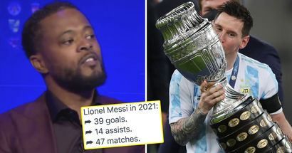 'I'm sick of giving it to Messi. What has he won in 2021?': Patrice Evra on Ballon d'Or