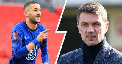 """L'Inter potrebbe """"fare un regalo"""" al Milan: Maldini attende sviluppi dall'affare Lukaku-Chelsea per tornare su Ziyech"""