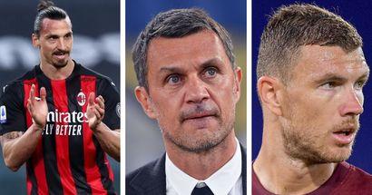 Il Milan con l'incognita Ibra, Maldini pronto ad accelerare per Edin Dzeko
