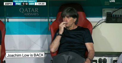 Oh, no. Joachim Low caught on camera sniffing fingers during France–Germany match