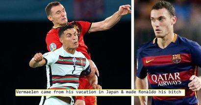 """""""Faire de Ronaldo sa pu**"""": certains fans saluent le héros inattendu Vermaelen alors que l'ex-Blaugrana aide à éliminer le Portugal de l'Euro"""