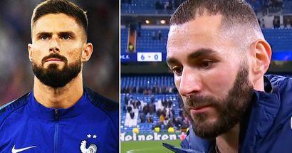 Karim Benzema spricht sich dafür aus, nach seinem großen Konflikt mit Olivier Giroud für Frankreich zu spielen