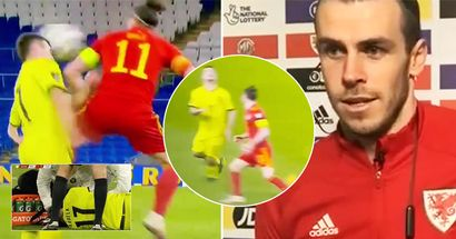 Gareth Bale elbows 'racist' Slavia player in the face, looks right in his eyes seconds before doing it