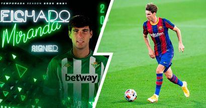 OFICIAL: El Barça no prórroga el contrato de Juan Miranda, ahora es jugador del Betis