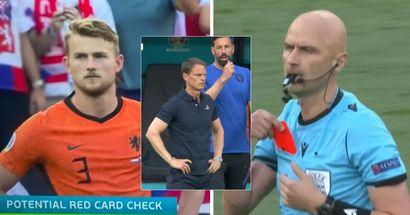Matthijs de Ligt expulsé après avoir réaliser un geste de gardien de but à l'Euro 2020