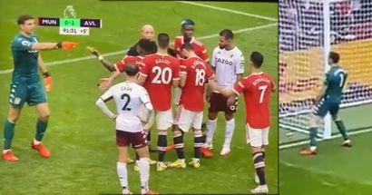 Emi Martínez grita a Cristiano que lance el penalti en la misma cara de Bruno Fernandes