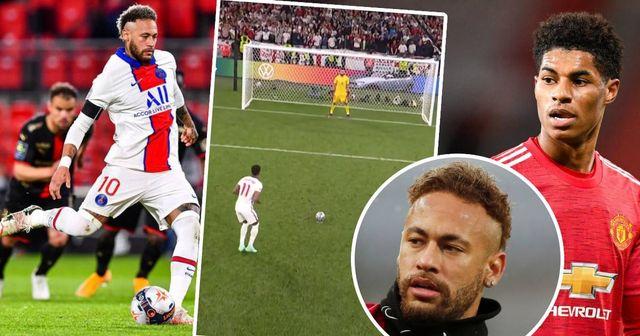 """""""Il a tout réussi sauf le plus important: marquer"""" le penalty manqué """"façon Neymar"""" de Rasford a fait réagir les fans parisiens"""