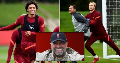 Back from international break: 8 best training images as Reds prepare for Watford clash