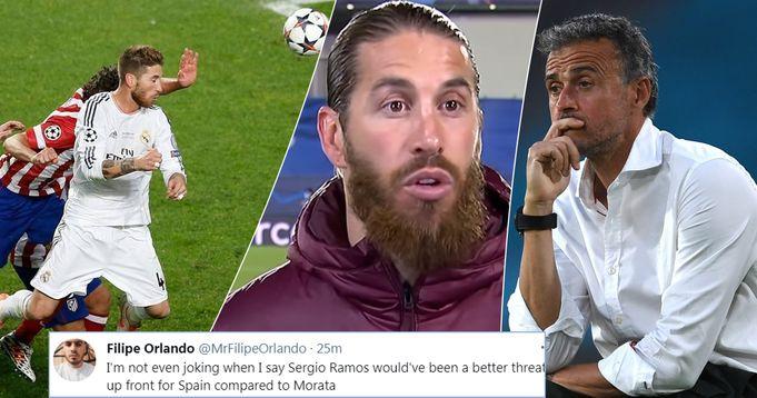 Madrid fans slam Enrique for not calling up 'Spain's biggest goal threat' Ramos after goalless draw v Sweden