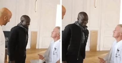 Il messaggio divertente di Deschamps a Kante dopo che N'Golo si era presentato in ritardo all'allenamento della Francia
