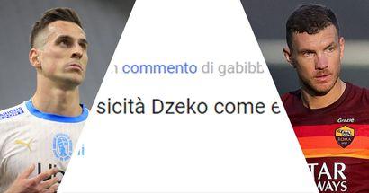 """""""Come fisicità Dzeko come età Milik"""", i tifosi rossoneri hanno espresso la loro preferenza tra le due alternative a Ibrahimovic"""