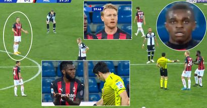 Zlatan Ibrahimovic sent off in the middle of the game, literally no one understands why