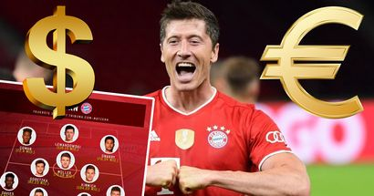 Tribuna.com-Nutzer entscheiden: Bayern-Kader kostet über 1 Mrd. Euro, Lewandowski kann für 120 Mio. Euro gehen!