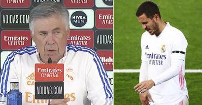 Ancelotti se abre sobre el estado físico de Eden Hazard