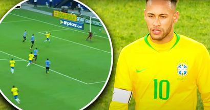 Brasilianische Magie: Neymar bringt 3 Uruguayer in Verlegenheit und schießt ein Tunnel-Tor
