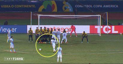 Messi trickst den Torwart mit einem Freistoß aus und schickt Argentinien ins Halbfinale von Copa America