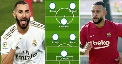 Como se vería el XI combinado del Real Madrid y Barcelona tras las salidas de Messi y Ramos