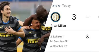 Inter Milan thrash Genoa to stay top of Serie A table, 3 former Man United players score