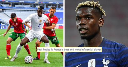 Pogba dazzles for France in pre-Euro friendly - and United fans can't stop raving about it