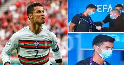 """""""Qui êtes-vous?"""": la sécurité hongroise vérifie l'identité de Cristiano Ronaldo avec l'énergie d'un videur de boîte de nuit"""