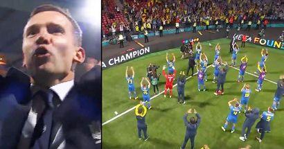 Scènes émouvantes: Andriy Shevchenko et les joueurs ukrainiens ont célébré leur victoire avec les fans