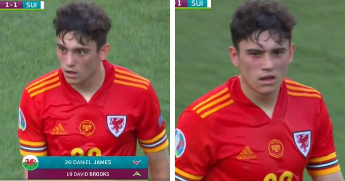 James infuriated with Wales coaching staff after being subbed vs Switzerland - and United fans love the fire in him