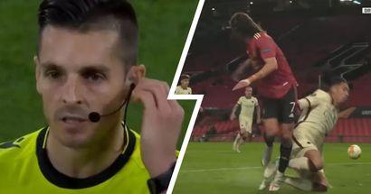 Moviola Manchester United-Roma: dubbi per il penalty di Smalling su Cavani, rigore più che generoso