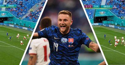 Skriniar protagonista con la Slovacchia agli Europei: l'eurogol del difensore dell'Inter in 3 istantanee
