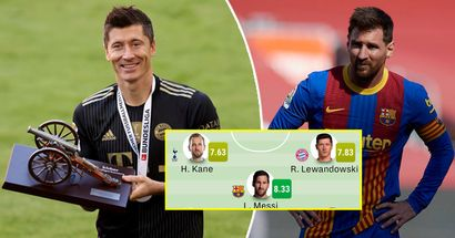 Leo Messi highest rated player in top 5 European league team of the season