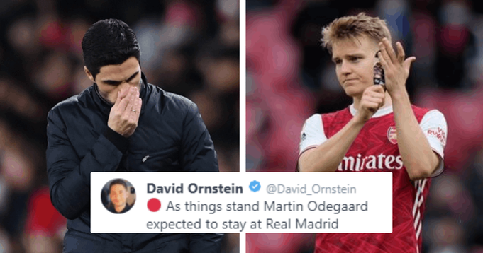 David Ornstein: Arsenal set to explore no. 10 options 'more aggressively' as Martin Odegaard likely to stay at Real Madrid