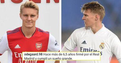 'Tengo mis motivos para irme': Odegaard escribe una carta de despedida a la afición tras su fichaje por el Arsenal