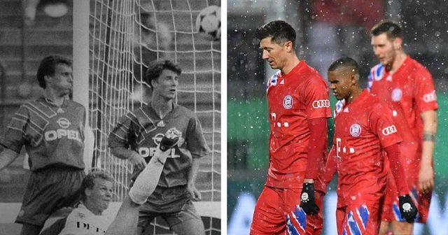 Kurioser Zufall: 1991 spielte FC Bayern in identischen Trikots und flog aus dem Pokal raus