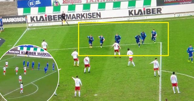 German team Karlsruher stun opponents with unexpected and creative corner kick routine