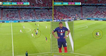 I tifosi notano un momento incredibile durante Francia-Germania che evidenzia l'incredibile talento di Mbappe