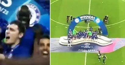 Momento increíble entre N'Golo Kanté y Zouma en la final de la Champions League captado por la cámara