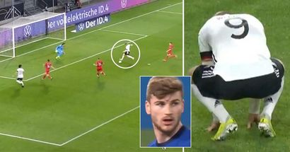 Timo Werner fallisce una palla gol incredibile contro la Macedonia: i giornali locali lo umiliano