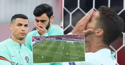 Bruno Fernandes makes ideal cross to Ronaldo - Cristiano misses absolute sitter