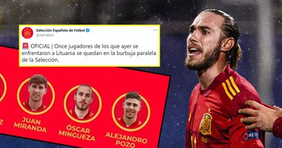 Oscar Mingueza included in Spain's 'parallel bubble' for Euro 2020 as another player tests positive for Covid