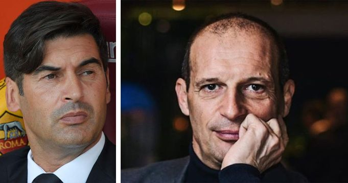 Aspettando la Juve la panchina di Fonseca scricchiola: l'ombra di Massimiliano Allegri sulla Roma è sempre più ingombrante