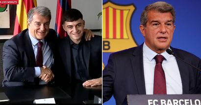 'We want him with all our lives. He's worth more than that': Laporta on Pedri's €1bn release clause