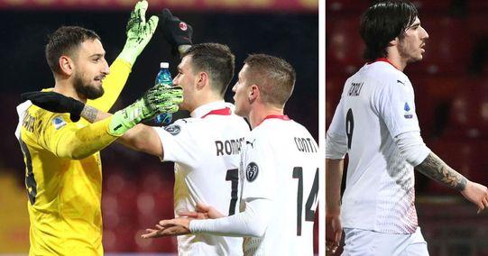 Benevento 0-2 Milan: Donnarumma insuperabile nonostante l'espulsione di Tonali