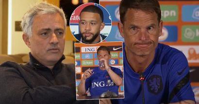"""Mourinho: """"De Boer n'a pas une grande expérience en tant qu'entraîneur national ou de club. Je ne vois pas la Hollande atteindre les demi-finales à l'Euro 2020"""""""