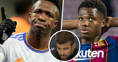 Pique names 2 things Vinicius is better than Fati at