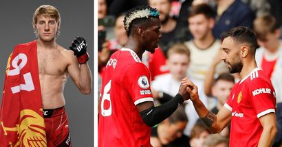 UFC sensation - and Liverpool fan - claims he'd fight 'overrated' Bruno Fernandes, aims sly dig at Paul Pogba