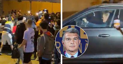 Fans blocking Koeman's car, shouting 'out' as coach leaves Camp Nou