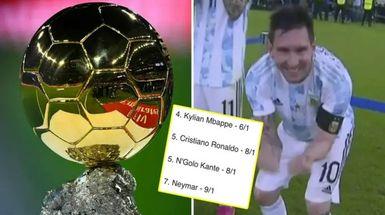 Messi, considerado el favorito número uno para ganar el Balón de Oro 2021