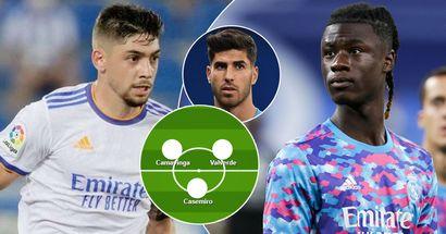 ¿El debut completo de Camavinga? Elige tu XI favorito del Real Madrid para el partido ante el Mallorca entre 3 opciones