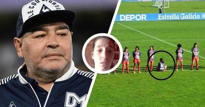 """Paula Dapena, la joueuse qui a refusé d'observer une minute de silence pour Maradona: """"Je ne l'ai pas respecté parce que c'était un violeur"""""""