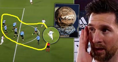 'El séptimo Balón de Oro está decidido': los fans creen que se acabó todo para los rivales de Messi después de lo que Leo le hizo a Uruguay